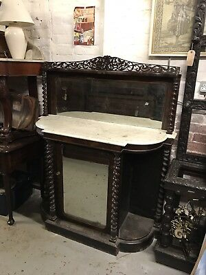 Victorian Credenza With Marble Top