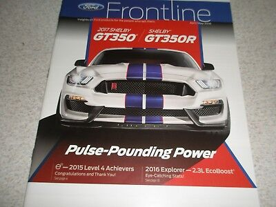 2017 Ford GT350, Focus RS,Fiesta ST shown in Frontline Ford magazine 4/16 specs