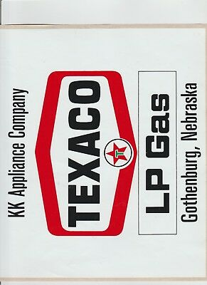 1 large Texaco decal lp gas