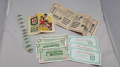 S&H Green Stamps Books (2) Plus Loose Stamps  Vintage Sperry And Hutchinson Co.
