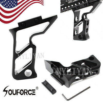 US Tactical Vertical Angled Foregrip Grip W/ Picatinny Rail For Handguard Keymod