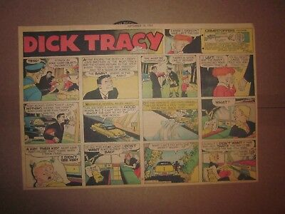 Chicago Sunday Tribune-9-16-1951-Chester Gould Dick Tracy-1/2 Page Sunday Comic