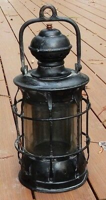 "Large Heavy Antique 15.5"" Marine / Ship's Lantern"