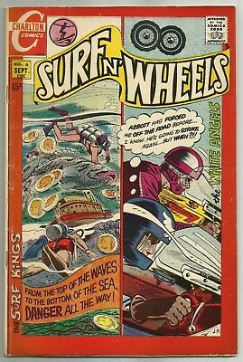 SURF N' WHEELS #6 (Motorcycle and Surfing Stories, Last Issue) Charlton, 1970