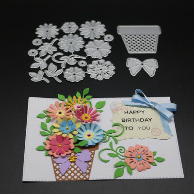 Butterfly Flower Set Cutting Die DIY Scrapbook Album Paper Embossing Craft Fashi