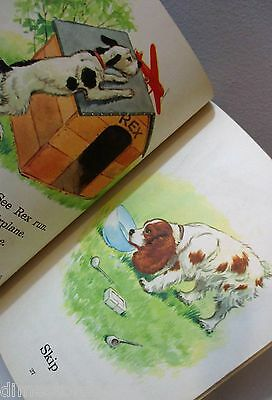 Vtg Child's Book Reader Play With Us Fox Terrier  Spaniel Dog Stories 50's 1954