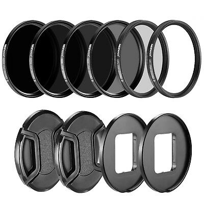 Neewer Camera Lens Filter Kit ND4 ND8 ND16 ND32 UV CPL for GoPro Hero 5
