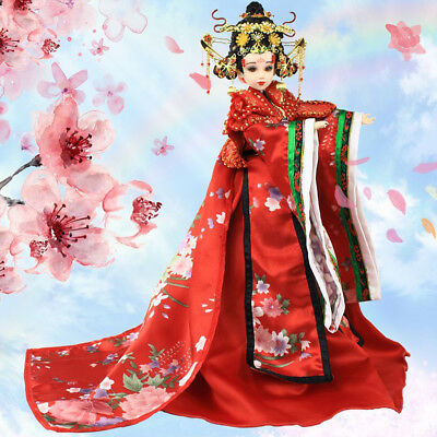 35cm Collectible BJD Tianhou Wu Zetian Doll with Costume Stand Kits