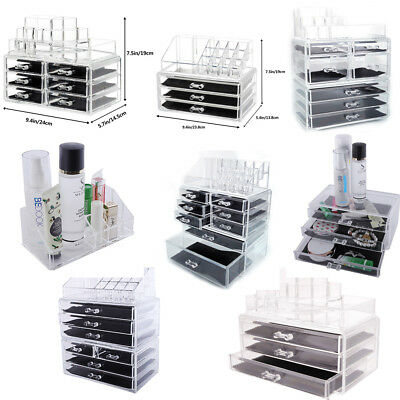 Multi- Make up Cosmetic Organizer Acrylic Makeup Case Jewelry Holder Storage