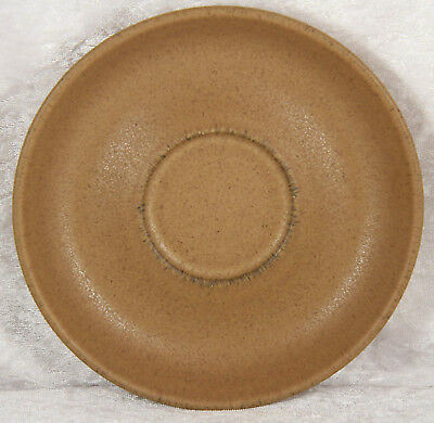 Denby plain brown saucers x 2 5.5 inches across teatime cake