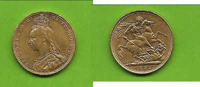 1 Sovereign Victoria Krone Gold 1892