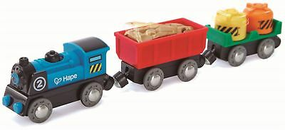 Hape BATTERY POWERED ROLLING-STOCK SET Pre-School Young Children Toy Game BN