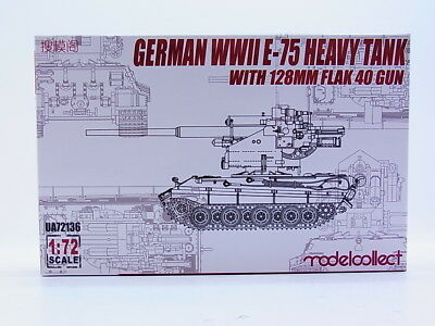 51261 | Modelcollect UA72136 German E-75 with 128mm Flak 40 1:72 Bausatz NEU OVP