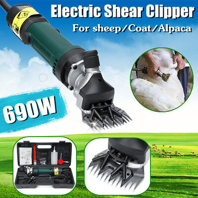 690W Electric Sheep Shearing Clipper Shears Goats Alpaca Hair Removal Trimmer