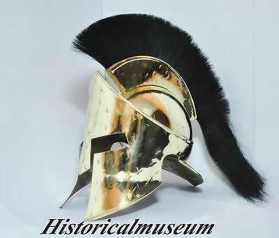 The King 300 Movie Brass Hm667 Helmet Lion-Heart 300 Spartan Movie Helmet