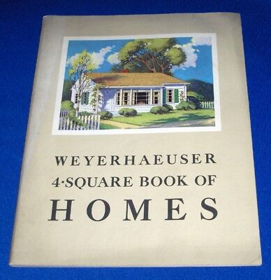 Weyerhaeuser 4-Square Book of Homes Catalog 1941 House Floor Plans Architecture