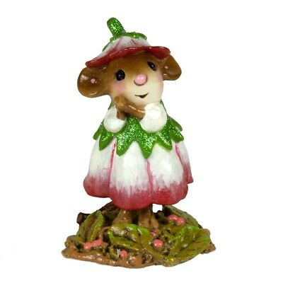 Wee Forest Folk - January Flower Mouse Of The Month M-640a