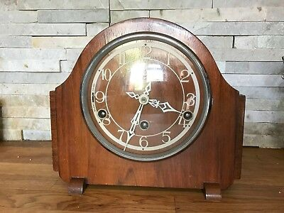 1940's Smiths Enfield Westminster Chiming Mantel Clock (Spares Or Repair)