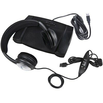 ECS OHUSB WordSlinger Headset and Infinity IN-USB-2 Foot Pedal for Transcription