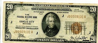 Fantastic 1929 United States National Currency $20 Banknote EJ429