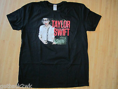 NEW☀ Taylor Swift Red Promotional T-SHIRT TEE SHIRT LADIES 2XL Black Standing
