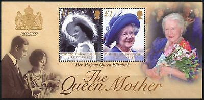 British Indian Ocean Ter. 2002 SG#MS269 The Queen Mother MNH M/S #D76258