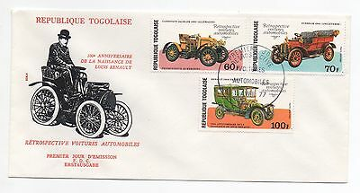 1977 TOGO First Day Cover Louis Renault Birthday 100th Anniversary Issue CARS