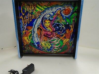 Bally Cirquis Voltaire Pinball Head LED Display light box