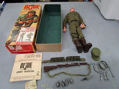 Vintage GI Joe 7500 W Box Complete Used Red Hair Action Soldier NO RESERVE