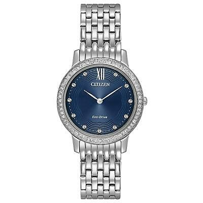 Citizen Eco-Drive Womens Stainless Steel Silhouette Crystal Watch