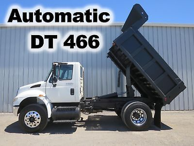 Diesel Dt466 Automatic  10Ft Contractor Dump Bed Body Work Truck Low Miles