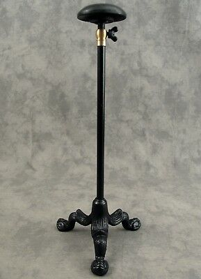 "MILLINERY HAT Cast Iron COUNTERTOP PEDESTAL DISPLAY STAND Adjustable 12""-20"""
