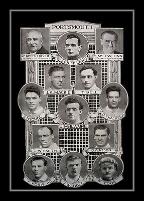 Retro/Photo/Photograph/1929 FA Cup Finalists - Portsmouth - Lab Printed Print
