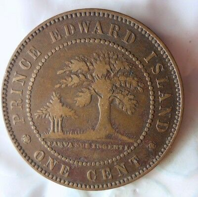 1871 PRINCE EDWARD ISLAND (CANADA) CENT - Rare High Grade Coin - Lot #75