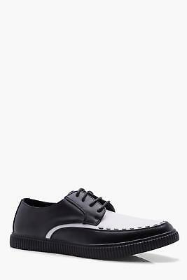 Boohoo Mens Weave Detail Lace Up Creeper