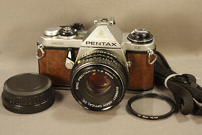 Pentax ME SE Camera, Brown Leather, SMC Pentax-M f2.0 Lens, New Seals, Warranty