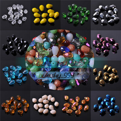 5X3mm 7X5mm 12X8mm 14X10mm 18X12mm Teardrop Crystal Glass Faceted Loose Beads