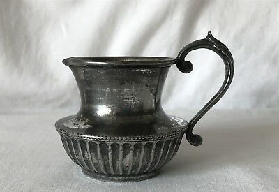 Antique A1 John Henry J.H. Potter Sheffield Silver Plated Cream Milk Jug