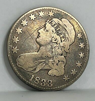 1833 - US Early Half Dollar - Capped Bust - 50¢