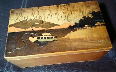 Japanese Wooden Inkwell Box