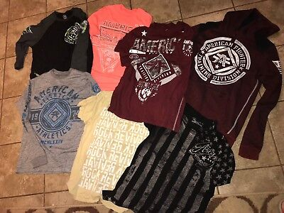 Mens Small Lot Of American Fighter Shirts Hoodie Tees Rock Revival Fom Buckle S