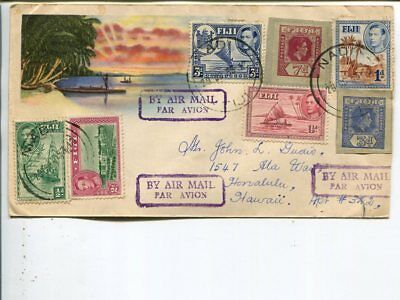 Fiji air mail cover to Hawaii 1953