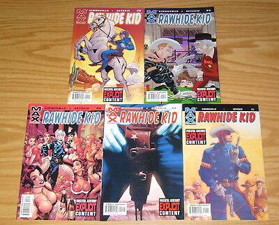 Rawhide Kid #1-5 VF/NM complete series - western - revealed to be gay - campbell