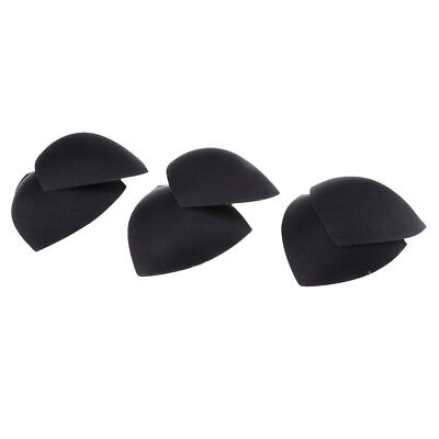 3 Pairs Triangle Sewing In Insert Foam Soft Cup Removable Padded Black