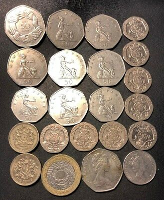 Great Britain Coin Lot - 10.70 BRITISH POUNDS - NICE COINS - Lot #713