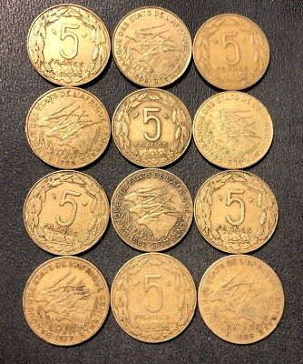 Old CAMEROON Coin Lot - 12 UNCOMMON Type Coins - Lot #713