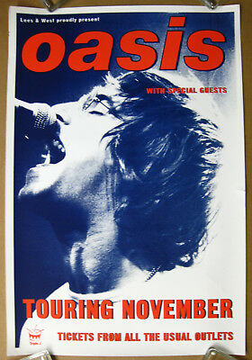 OASIS Australian Tour 1996 Concert POSTER #2 Liam GALLAGHER Cancelled Shows NOEL