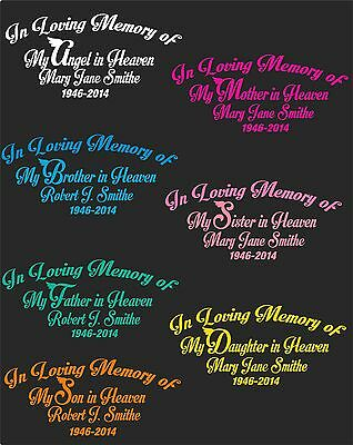 "In Loving Memory Of  ""my Angel In Heaven""....pick Your Color & Style"