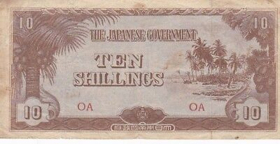 1942 Oceania 10 Shillings Note, Pick 3a