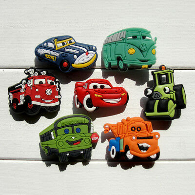 21pcs Lot Cars PVC Shoes Charms fit for Croc & Jibbitz Wristbands Boy Party Gift